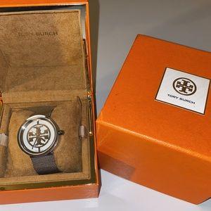 Tory Burch silver Reva Mesh watch